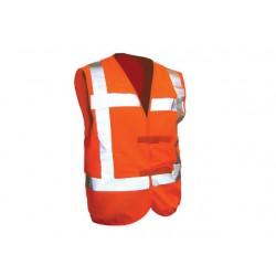 Veiligheidsvest refl.strepen W34490 oran