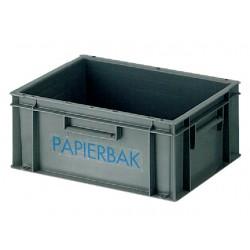 Afvalbak 40x30x17,5cm kunststof grijs
