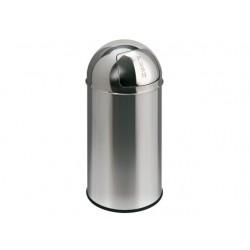 Afvalbak Pushcan 40L h74cm chroom