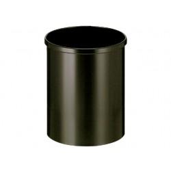 Papierbak 15l metaal zwart