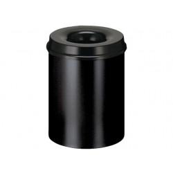 Papierbak 30l metaal vlamdov zwart