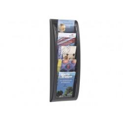 Folderwandrek A5 5-vaks zwart