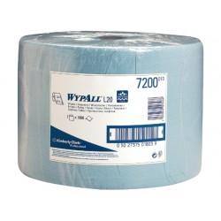 Poetsdoek Wypall L20 1l blauw/rol 1000v