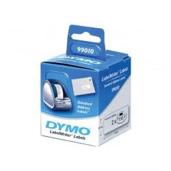 Etiket Dymo LW 89x28 adres wit/ds 24x130