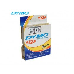 Tape Dymo 40910 9mm zwart/transparant