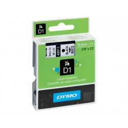 Tape Dymo 40913 9mm zwart/wit