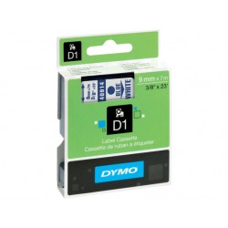 Tape Dymo 40914 9mm blauw/wit