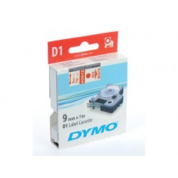 Tape Dymo 40915 9mm rood/wit