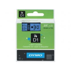 Tape Dymo 40916 9mm zwart/blauw