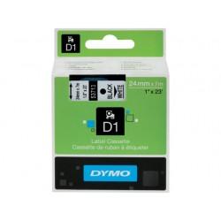 Tape Dymo d1 24mm zwart/wit