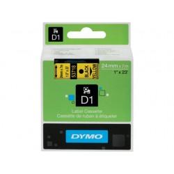 Tape Dymo d1 24mm zwart/geel