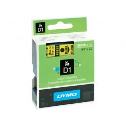 Tape Dymo 45808 19mm zwart/geel