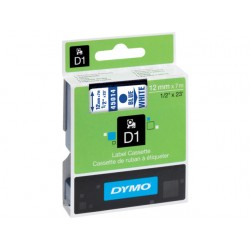 Tape Dymo 45014 12mm blauw/wit