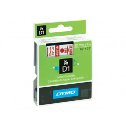 Tape Dymo 45015 12mm rood/wit