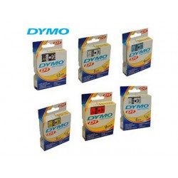 Tape Dymo 45016 12mm zwart/blauw
