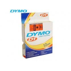 Tape Dymo 45017 12mm zwart/rood