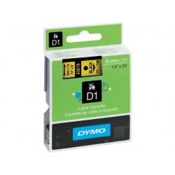 Tape Dymo 43618 6mm zwart/geel