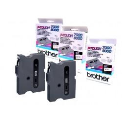 Tape P-Touch TX-241 18mm zwart op wit