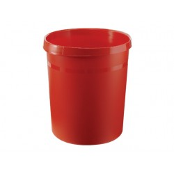 Prullenbak Han kunststof rond 18l rood