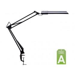 Bureaulamp Unilux Swingo met klem zwart