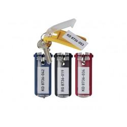Sleutelhanger Durable key clip bl/pk 6