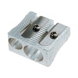 Potloodslijper SPLS 2-gaats aluminium