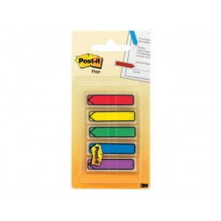 Index Post-It pijlen rd/bl/gl/gr/pr/5x20