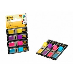 Index Post-It mini geel/paars/cyaan/roze