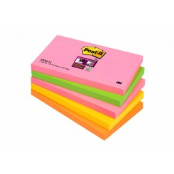 Notitieblok Super Sticky 127x76 neon/pk5