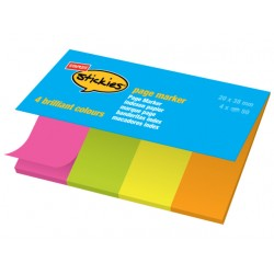 Pagemarker SPLS 20x38mm assorti/pk4x50
