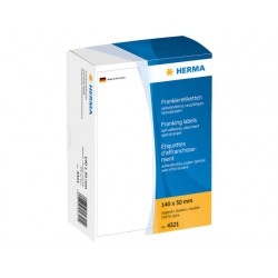 Frankeeretiket Herma 130x40 wit/pk 500