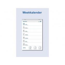 Weekkalender op schild