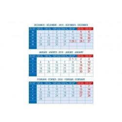 Driemaandskalender tafelmodel