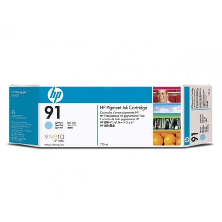 Inkjet HP C9470A Nr. 91 775ml licht cyan