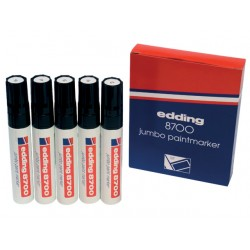 Lakmarker edding 8700 5-18mm wit/doos 5