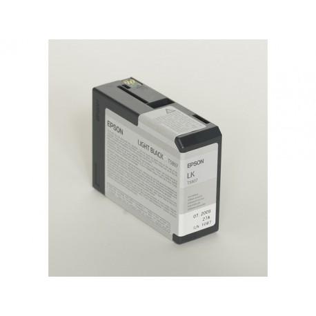 Inkjet Epson T5807 80ml licht zwart