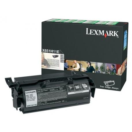 Toner Lexmark X65x X651H11E ret. zwart
