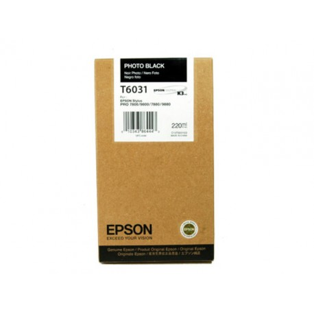 Inkjet Epson T6031 220ml photo zwart