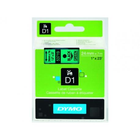 Tape Dymo 53719 D1 24mm zwrt/groen/ds 5