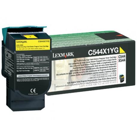 Toner Lexmark C544/X544 HC geel
