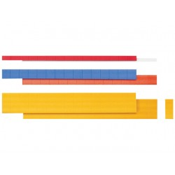 Magneetstrip 2-regelig lichtblauw/pak 10