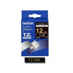 Tape P-Touch TZ-334 12mm goud op zwart