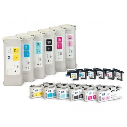 Printkop HP C4963a No.83 UV geel+cleaner