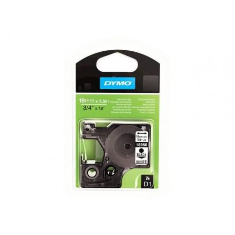 Tape Dymo 16956 D1 19mm zwart/wit/ds5