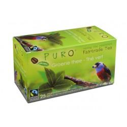 Thee Puro fairtrade groene thee/bx 6x25